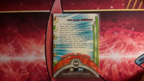 Topps Team Rocket Cassidy Heroes /& Villains Pokemon Card LP