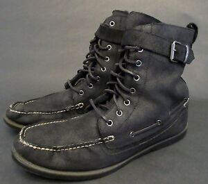 polo ralph s size 14 d brentwood black leather