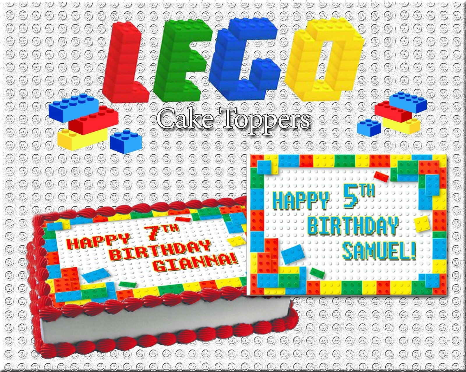 Cool Lego Birthday Cake Topper Edible Paper Sugar Sheet Frosting Wafer Funny Birthday Cards Online Overcheapnameinfo