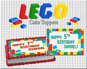 Amazing Lego Birthday Cake Topper Edible Paper Sugar Sheet Frosting Wafer Funny Birthday Cards Online Elaedamsfinfo