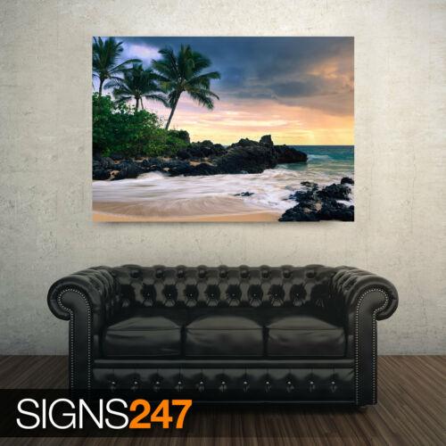 HAWAII SECRET BEACH 3257 Beach Poster Photo Poster Print Art * All Sizes
