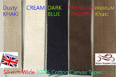 3.5 Thick STRONG  Canvas Cotton Tape Webbing Belt Strap Bag DIY WW2