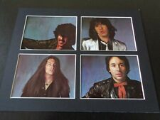 THIN LIZZY AUTOGRAPH SIGNED PAGES FROM BLACK ROSE PROGRAMME 4 GREAT SIGNATURES