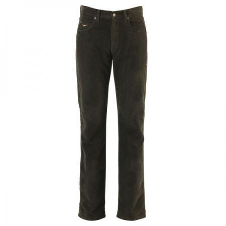R.M.Williams Luxury Linesman Moleskin Jeans - Chocolate - 40  Waist - Regular