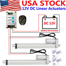 2 Dual 12v Electric Linear Actuator With Wireless Dc Motor Controller Brackets Kit