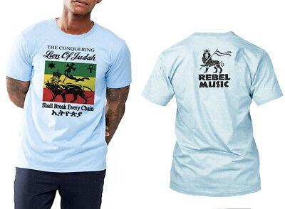 Reggae T-Shirt Haile Selassie Conquering Lion Of Judah Jah Rastafarian Roots Tee