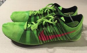 on sale 3b2b7 03a33 Image is loading Nike-Zoom-Victory-2-Running-Track-Spikes-Green-
