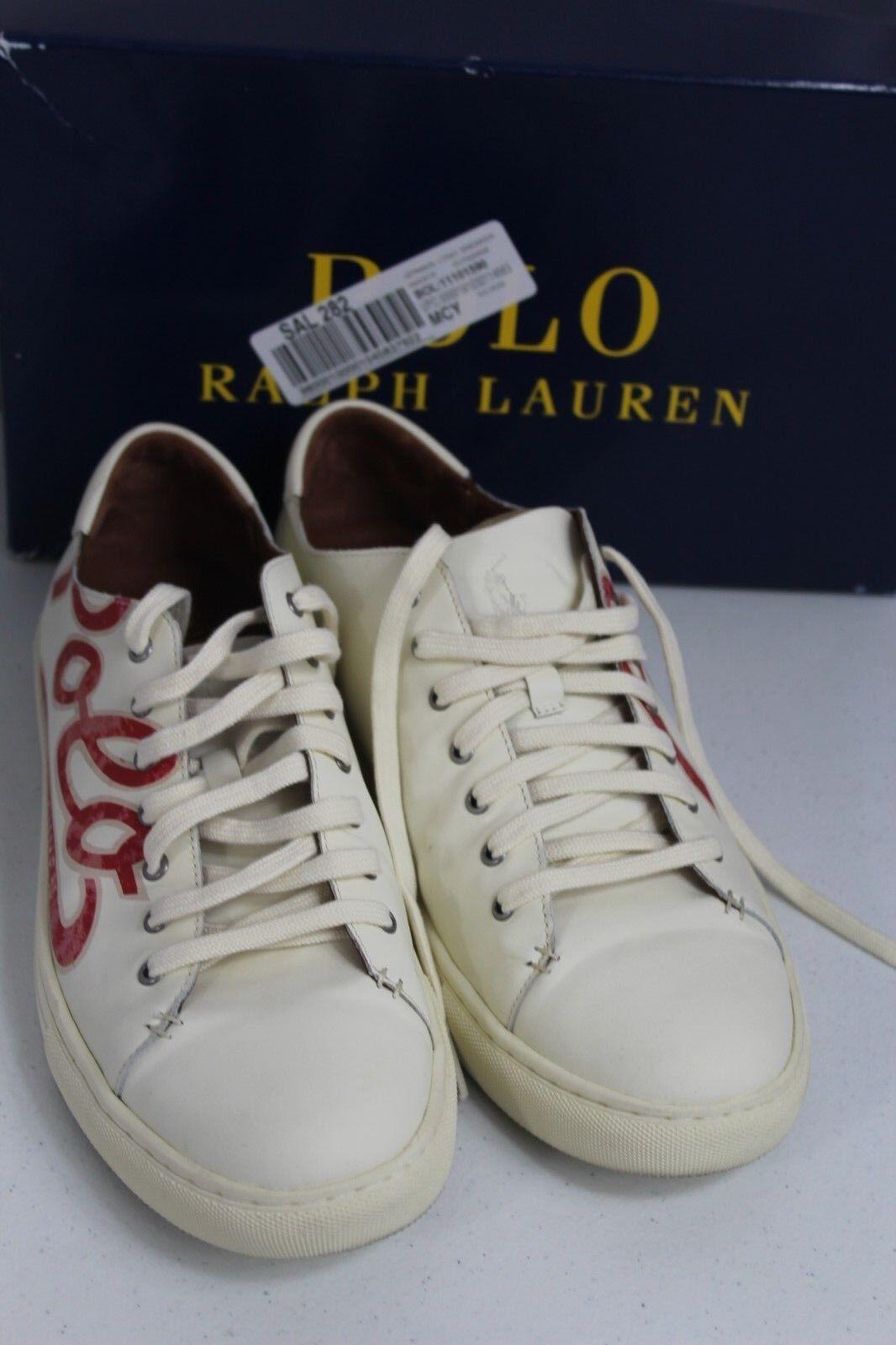 Polo Ralph Lauren Jermain Logo moda sautope da ginnastica 12 D Laces Up sautope bianca  175