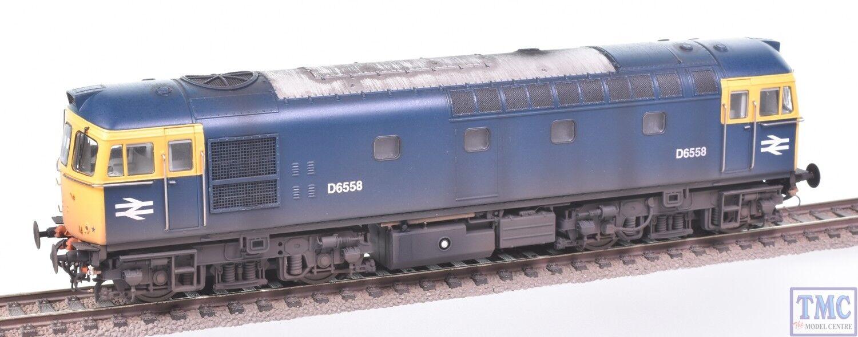 3437 Heljan OO Gauge Class 33 0 D6558 BR azul Weatherojo by TMC