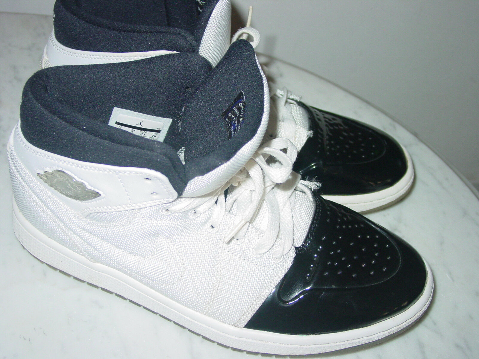 2018 Nike Air Jordan Retro 1 95 TXT Black/Dark Concord Shoes! Size 8 Sold As Is!