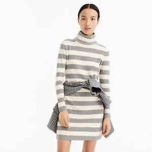 b0a26c8d130 Image is loading NWT-Jcrew-Striped-Turtleneck-Sweater-Dress-in-Black-