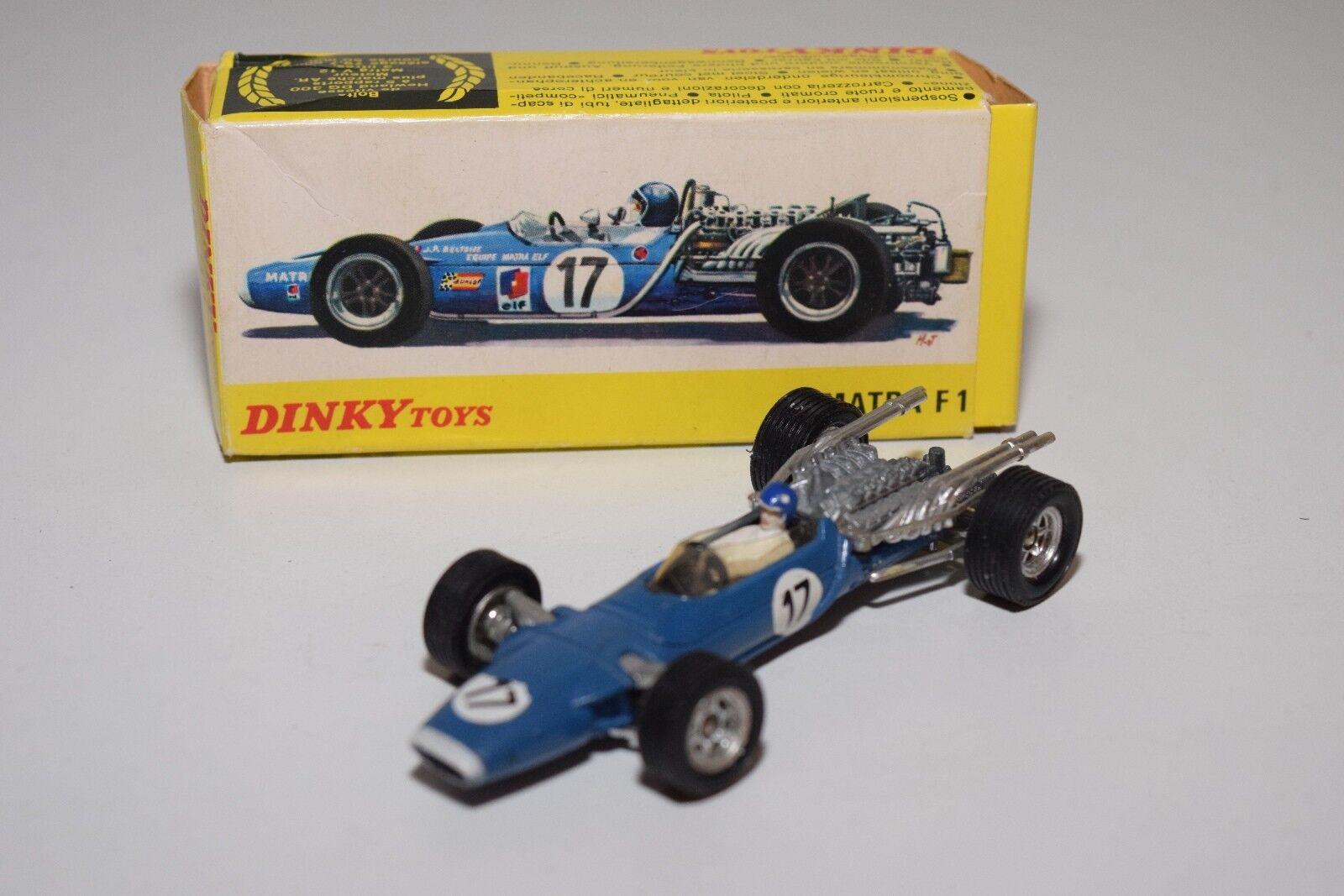 100% garantía genuina de contador .- DINKY TOYS 1417 MATRA F1 FORMULA 1 1 1 RACING Coche azul EXCELLENT BOXED  promociones