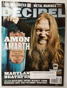 DECIBEL Heavy Metal Magazine Issue 106 Aug August 2013 Amon Amarth Death Angel
