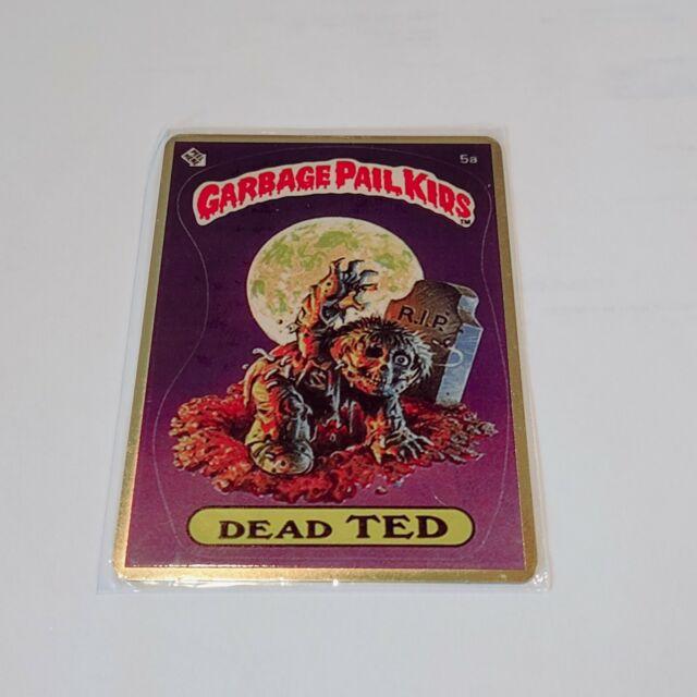 GARBAGE PAIL KIDS 5a DEAD TED Gold Metal Fan Art Card GPK SERIES 1 RARE