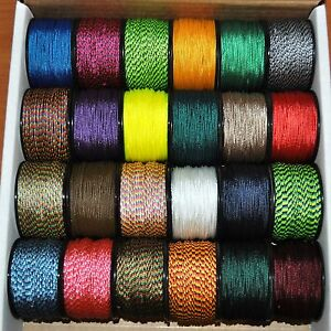 New-Many-Colors-Nylon-Micro-Cord-1-18mm-3-64-by-125ft-Rope-Spool-Made-in-the-USA
