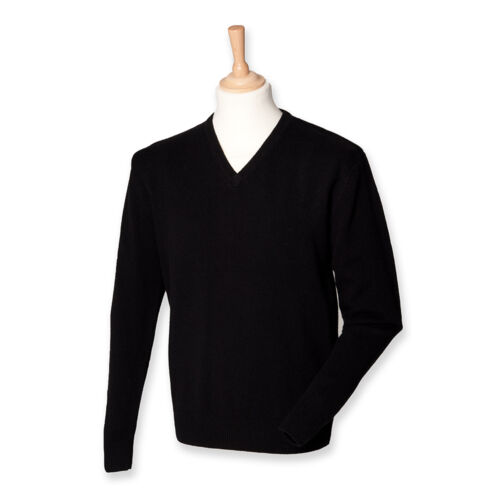 Pullover Uomo 100/% Lana di Agnello Da Uomo Pullover Scollo a V S M L XL XXL