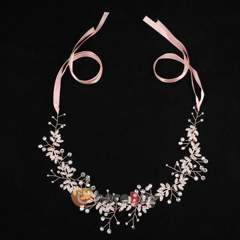 Vine Crystal Rhinestone Wedding Head Band Bridal Hair Accessorie Headpiece Tiara