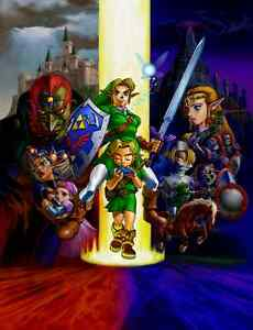 Ganondorf Link The Legend Of Zelda Ocarina Silk poster wallpaper 24 X 13 inches