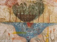 "Rene Carcan "" Les Deux Mondes "" Aquatint Etching"