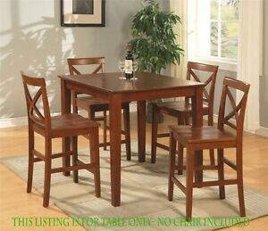 Details About 36 Square Dinette Pub Counter Height Kitchen Table No Chair Cherry Brown Finish