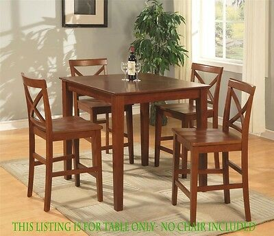 36 Square Dinette Pub Counter Height Kitchen Table No Chair Cherry Brown Finish Ebay