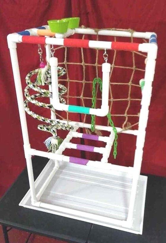 42  Tall  Versa-Gym 3 4  Perch \ Stand \ Play Gym\ Swing w\PAN FREE SHIPPING