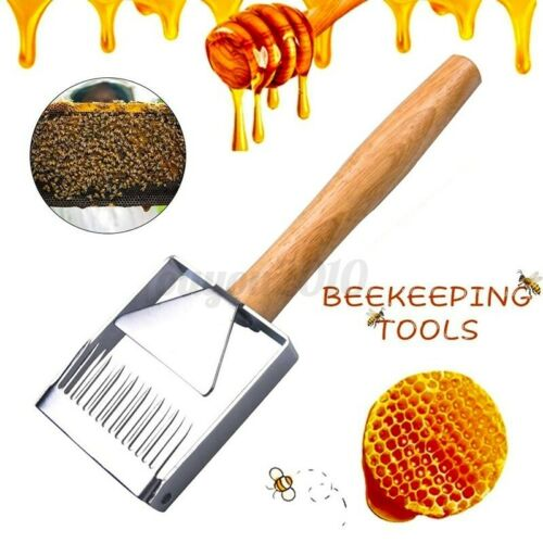 Stainless Steel Bee Hive Uncapping Honey Fork Scraper Shovel Tool Beekeeping
