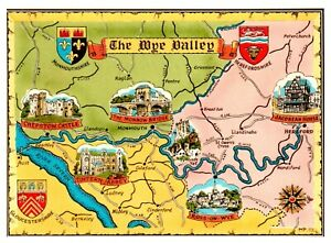 Postcard-MAP-OF-THE-WYE-VALLEY-Ref-D4