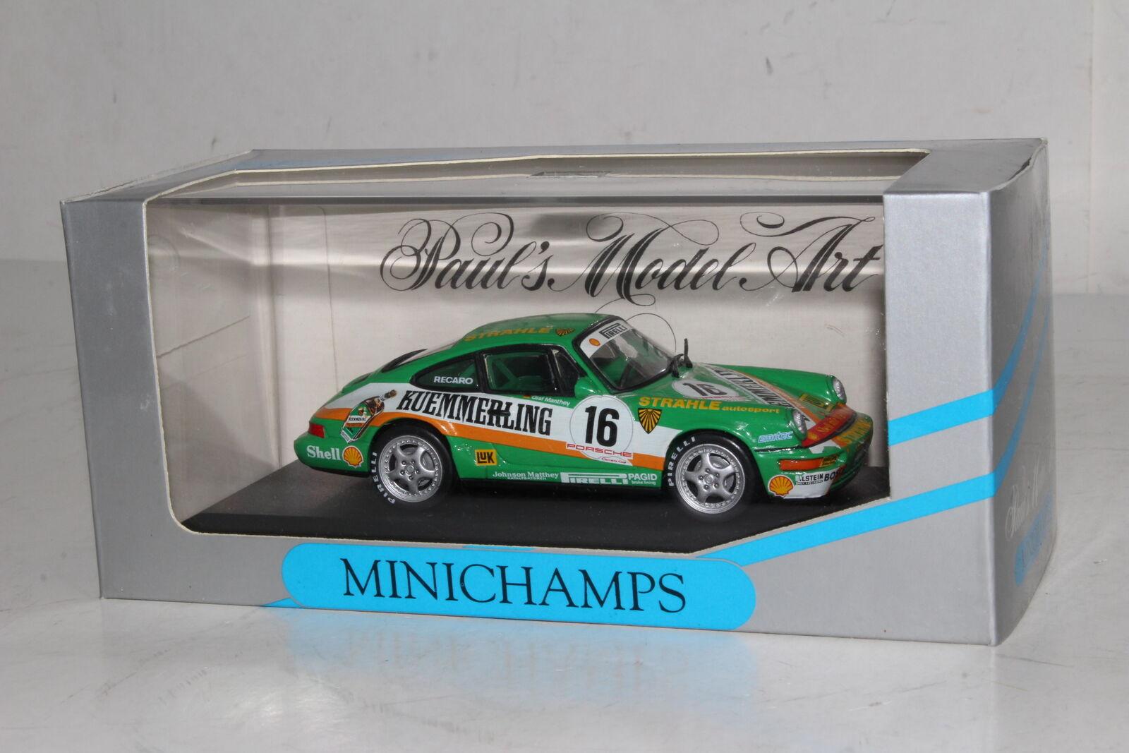 calidad auténtica Minichamps de Metal  926016 Porsche 911 911 911 , Cup 1992 , Manthey Straehle Autosport  gran descuento