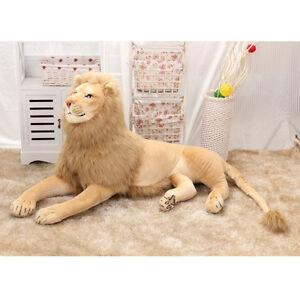 Lion-plush-soft-Cuddly-huge-stuffed-animal-big-jungle-gift-kids-Birthday-toy