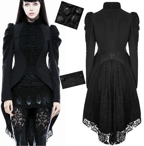 Manteau dentelle veste cintré traîne gothique lolita baroque victorien PunkRave