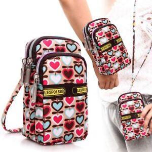 Shoulder-Bag-Wallet-Purse-Nylon-Coin-Cell-Phone-Case-Mobile-Bag-Pouch-Arm-Pack
