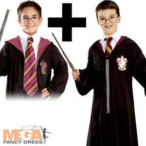 Harry-Potter-Robe-Kit-Tie-Boys-Fancy-Dress-World-Book-Day-Childs-Kids-Costume