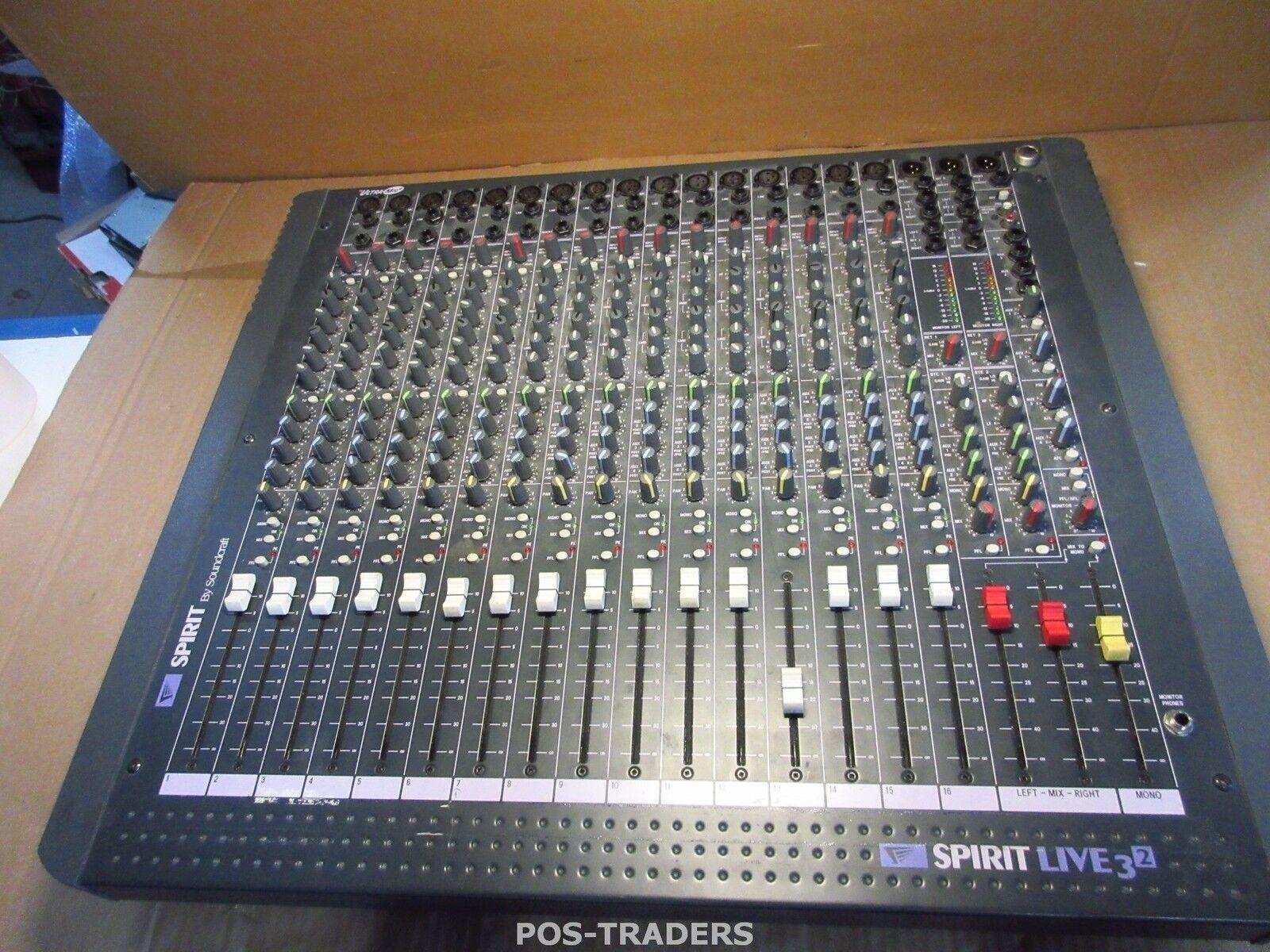 SoundCraft Spirit Live 3-2   16 Channel Mixing Console   2 Mix Bus   UltraMic+ T