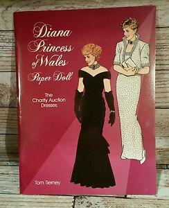 PAPER DOLLS PRINCESS DIANA OF WALES NEW UNCUT Tom Tierney unused paper dolls