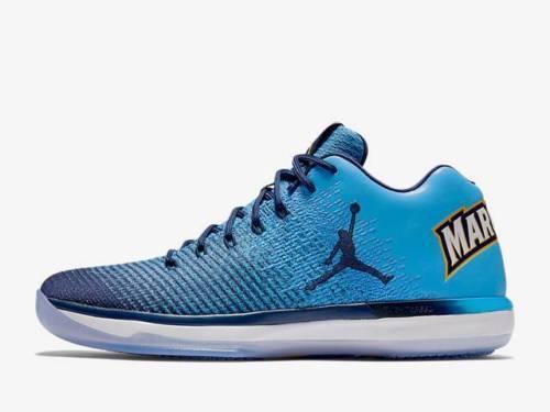 Nike Air Jordan 31 XXXI Low Marquette PE size 10.5. 897564-406. bluee Navy gold.