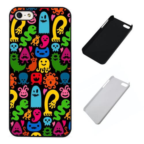 Monstruos de plástico teléfono caso colorido se ajusta iPhone