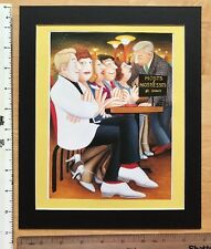 "BERYL COOK ""Hosts & Hostesses"" MOUNTED ART PRINT 11"" x 9"": NEW: fun, dancing"