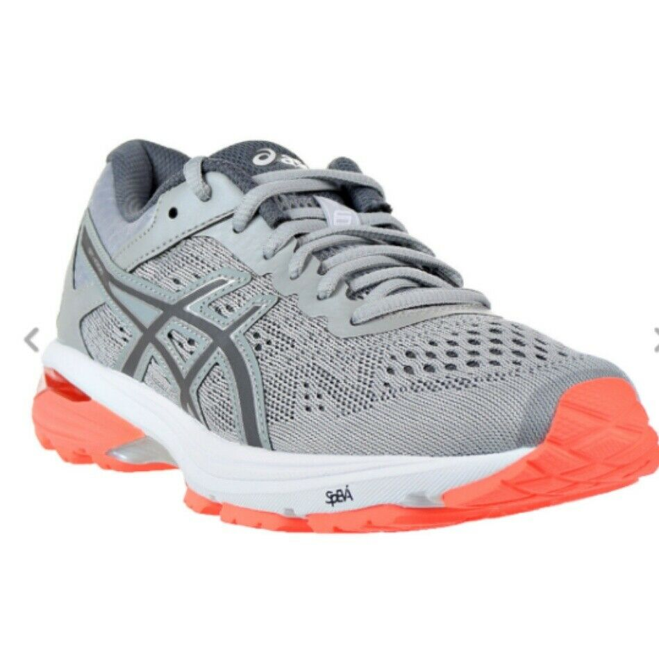 New Asics GT 1000 6 Women's Athletic shoes, grey Coral, size 8.5 wide (D width)