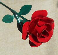 Metal Red Rose Decoration Floral Flower Steel Rose Gift Birthday Wedding Роза