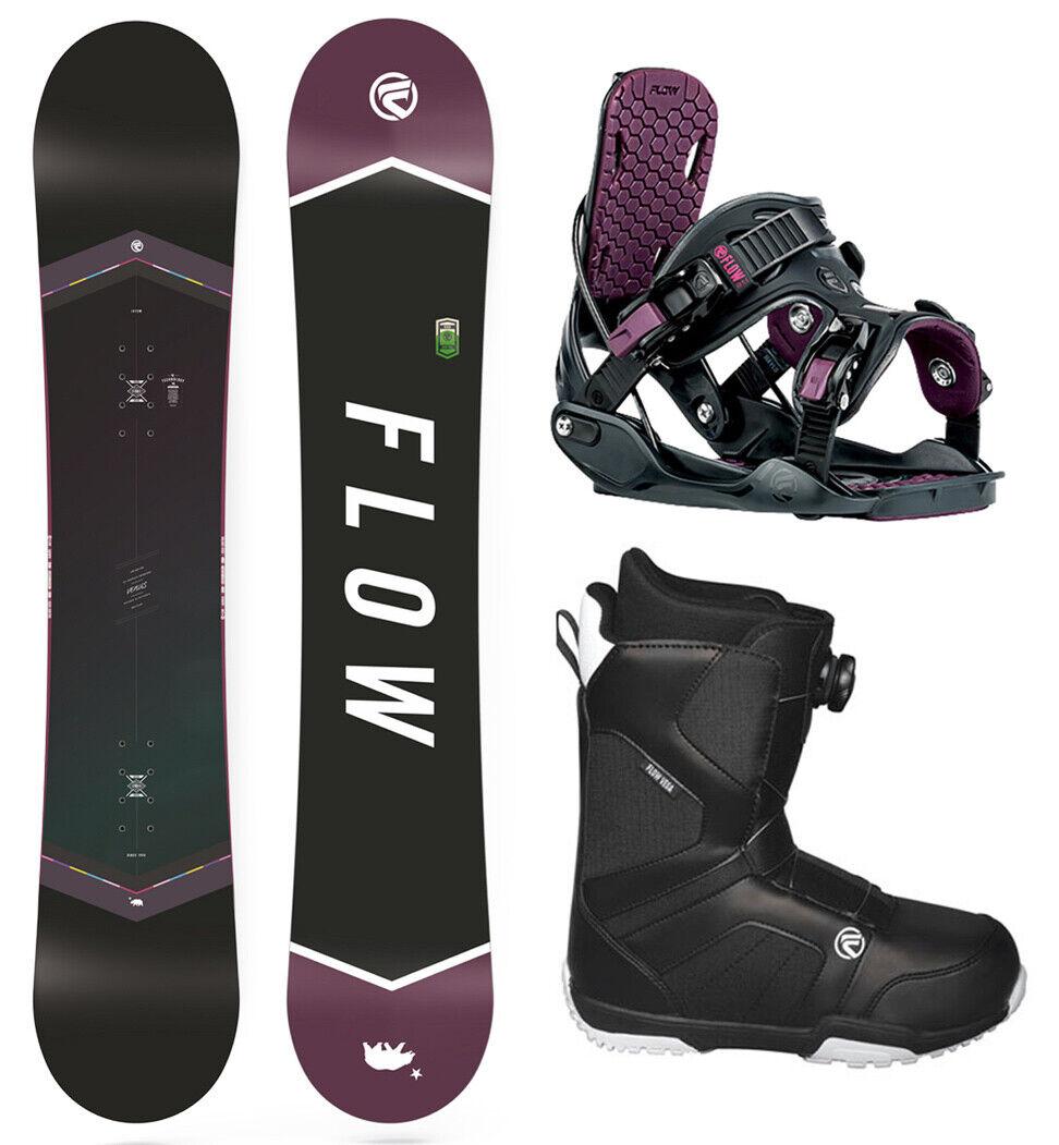 FLOW Venus 155 damen Snowboard+FLOW Binding+Flow BOA Stiefel NEW