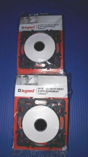 Céliane 99725 Interrupteur Va et Vient à Effleurement 3 fils BLANC Legrand