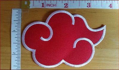 Small Akatsuki Cloud Naruto Embroidered Iron On Patch Iron on Applique