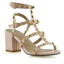 940b21808d2d item 2 Womens Ladies Ankle Strap Studded Sandals Ladies Rivet Block Heel  Shoes Size 3-8 -Womens Ladies Ankle Strap Studded Sandals Ladies Rivet  Block Heel ...