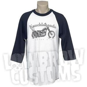 Lowbow-Customs-Knuckleheads-never-Die-T-Shirt-Harley-Shovel-FLH-XL-Pan