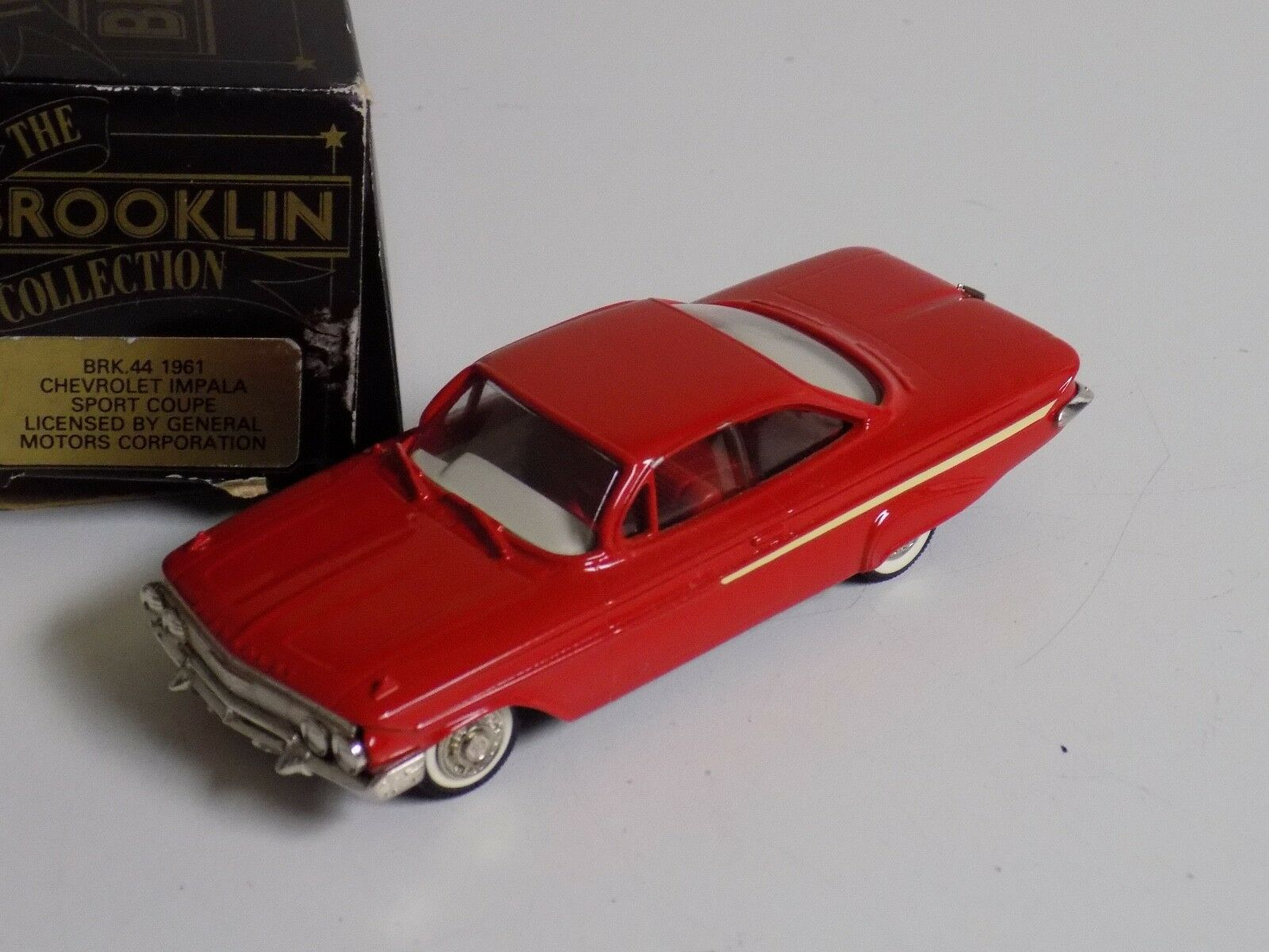 1 43 Brooklin modelos 1961 Chevrolet Impala Sport Coupe BRK Caja Original B44