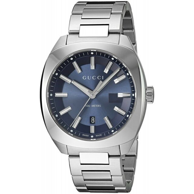 d69493c1141 Gucci Blue Dial Stainless Steel Men s Watch YA142303 for sale online ...