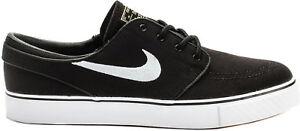 Mens-Nike-Zoom-Stefan-Janoski-Canvas-Skateboard-Shoes-Black-White-615957-028