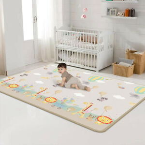 USA Baby Play Mat - Large Double Sides Non-Slip Waterproof Portable Playroom Kid