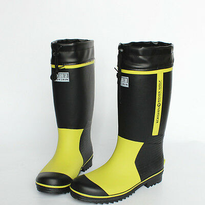 mens Fishing Wellies galoshes Rubber Rain Boots Waterproof Calf Boots work shoes